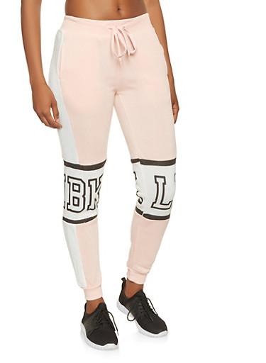 BKLN Graphic Sweatpants,MAUVE,large