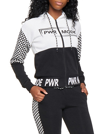 PWR MODE Graphic Sweatshirt,BLACK,large