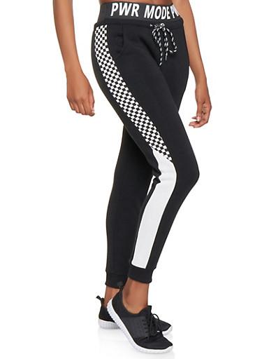 PWR MODE Graphic Sweatpants,BLACK,large