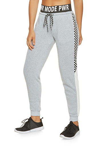 PWR MODE Graphic Sweatpants,HEATHER,large