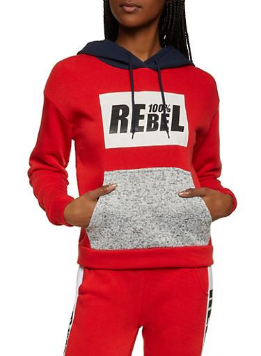 100 Percent Rebel Sweatshirt,RED,large