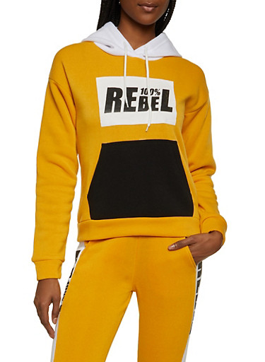 100 Percent Rebel Sweatshirt,MUSTARD,large