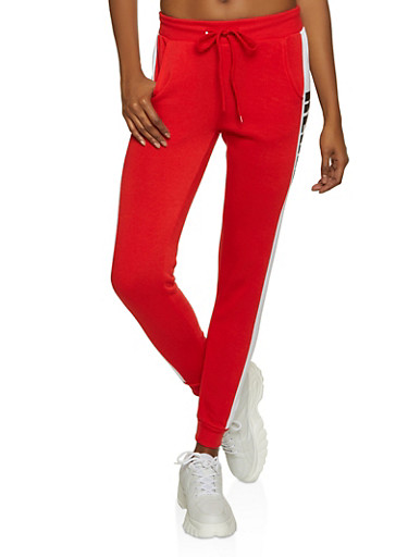 100 Percent Rebel Joggers,RED,large