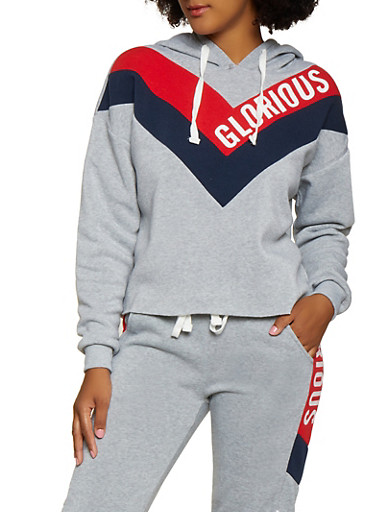 Glorious Graphic Pullover Sweatshirt,HEATHER,large
