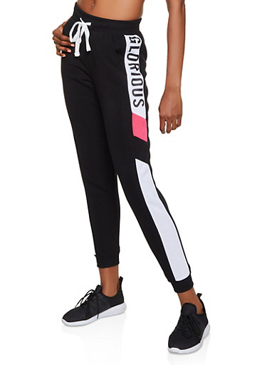 Glorious Graphic Joggers,BLACK,large