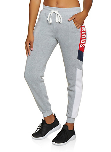 Glorious Graphic Joggers,HEATHER,large
