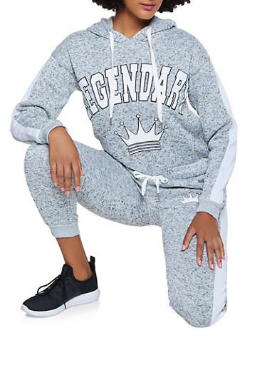 Legendary Knit Pullover Sweatshirt,GRAY,large