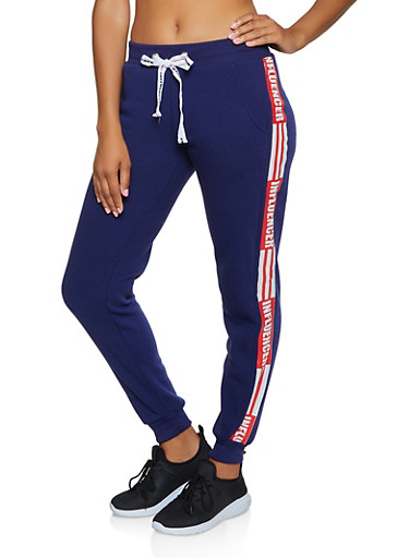 Influencer Graphic Joggers,RYL BLUE,large