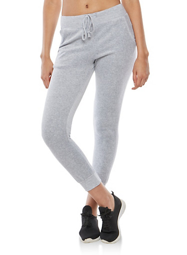 Velour Joggers,HEATHER,large