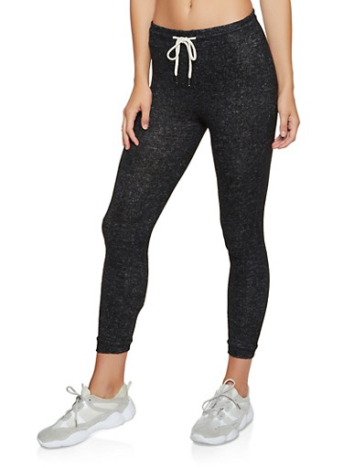 Brushed Knit Joggers | 3056054268620,BLACK,large
