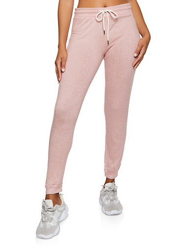 Brushed Knit Joggers | 3056054268620,MAUVE,large
