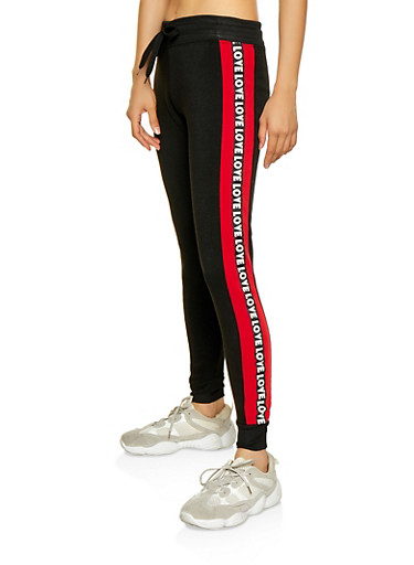 Love Tape Joggers,RED,large