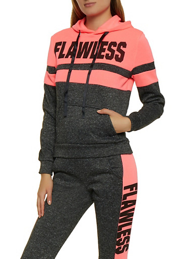 Flawless Hooded Sweatshirt,FUCHSIA,large