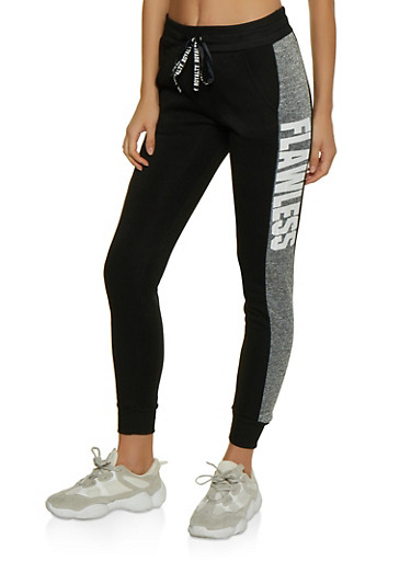 Flawless Striped Side Joggers,GRAY,large
