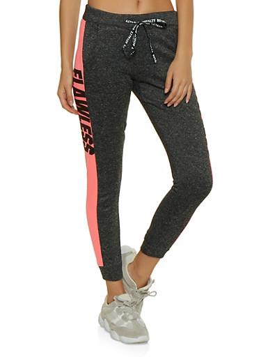 Flawless Striped Side Joggers,FUCHSIA,large