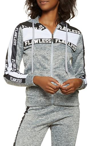 Flawless Graphic Hooded Sweatshirt,BLACK,large