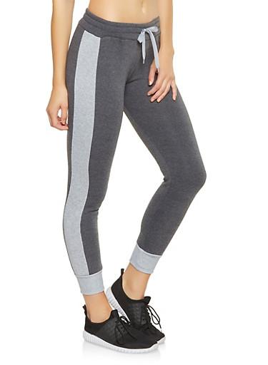 Color Block Sweatpants,CHARCOAL,large