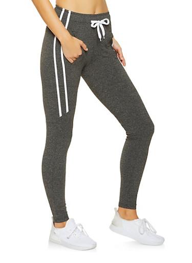 Side Stripe Sweatpants,BLACK,large