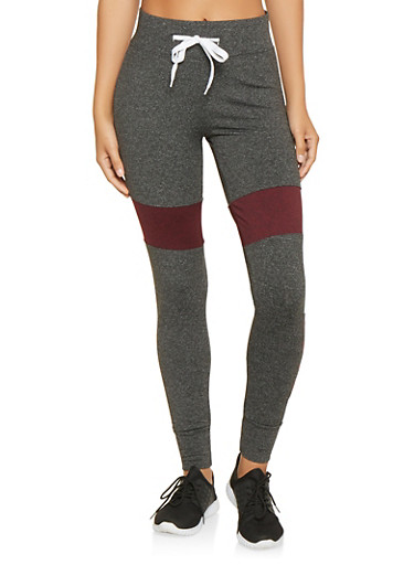 Marled Love Graphic Joggers,BLACK,large