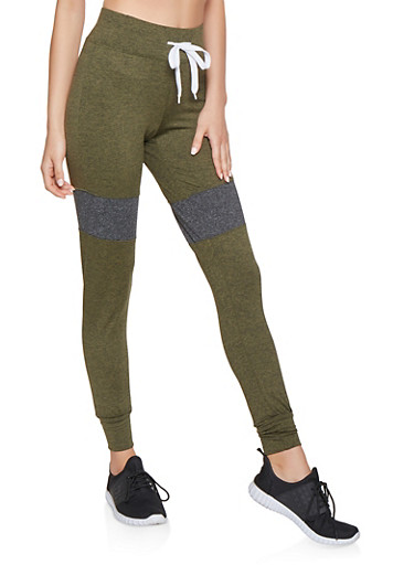 Marled Love Graphic Joggers,OLIVE,large