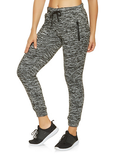 Space Dye Joggers,BLACK,large