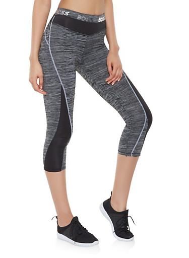 Boss Graphic Activewear Capri Leggings,CHARCOAL,large