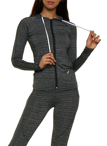 Hooded Active Sweatshirt,CHARCOAL,large