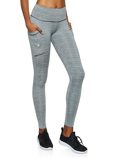 Side Pocket Active Leggings,GRAY,large
