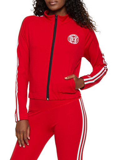 Brooklyn New York 03 Track Jacket,RED,large