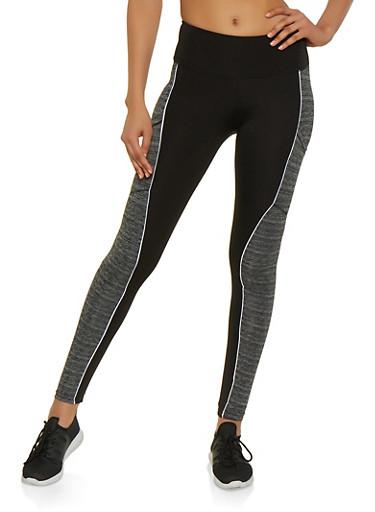Color Block Active Leggings | 3058038346091,BLACK,large