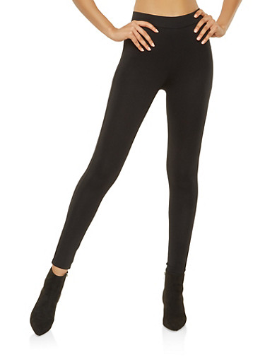 Push Up Ponte Leggings,BLACK,large