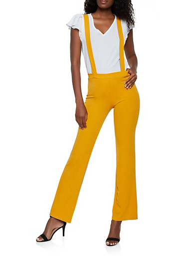 Flared Suspender Pants by Rainbow
