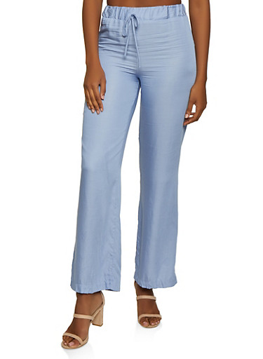 Solid Palazzo Pants | 3061020629053,BLUE,large