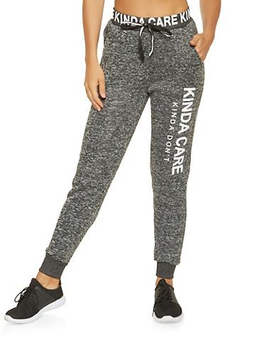 Graphic Knit Sweatpants,CHARCOAL,large