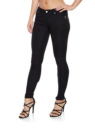 Hyperstretch Push Up Jeggings,BLACK,large