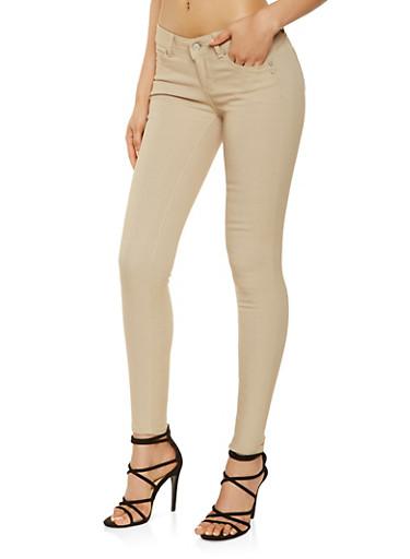 Solid Hyperstretch Khaki Pants,KHAKI,large