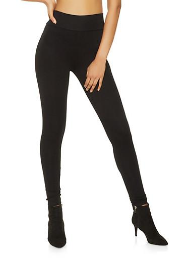 Ponte Knit Pull On Pants,BLACK,large