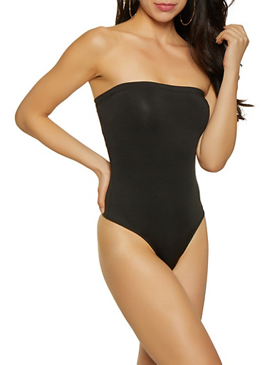 Tube Thong Bodysuit,BLACK,large