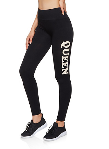 Queen Pintuck Leggings,BLACK,large