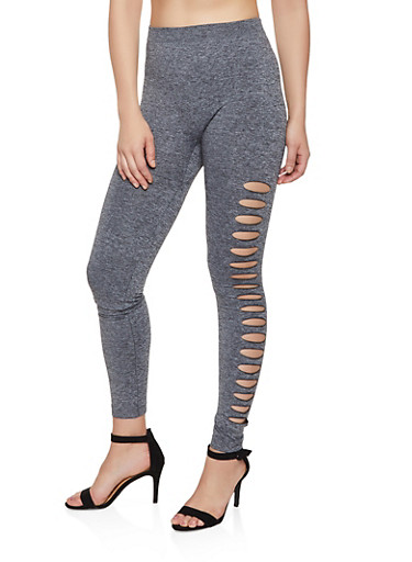 Laser Cut Leggings | 3066062904827,GRAY,large