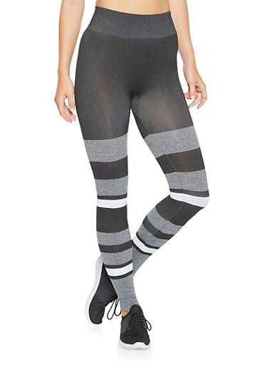 Stripe Detail Leggings,GRAY,large