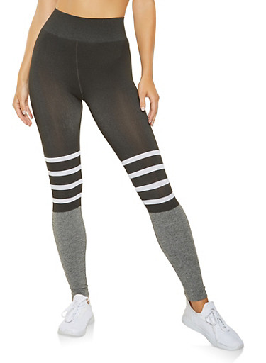 Stripe Detail Leggings,HEATHER,large