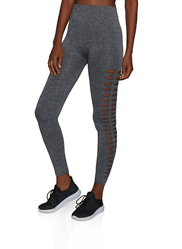 Laser Cut Leggings | 3066062908427,GRAY,large
