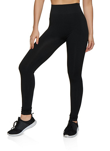 Ruched Back Leggings,BLACK,large