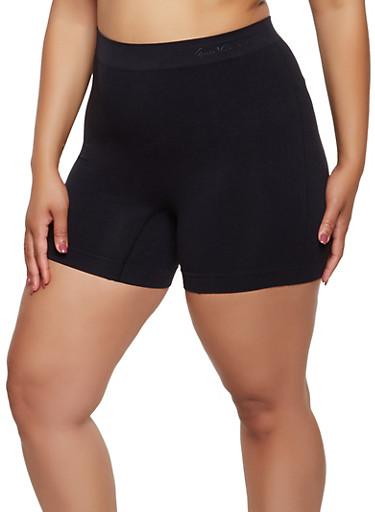Plus Size Seamless Bike Shorts | 3068035160721,BLACK,large