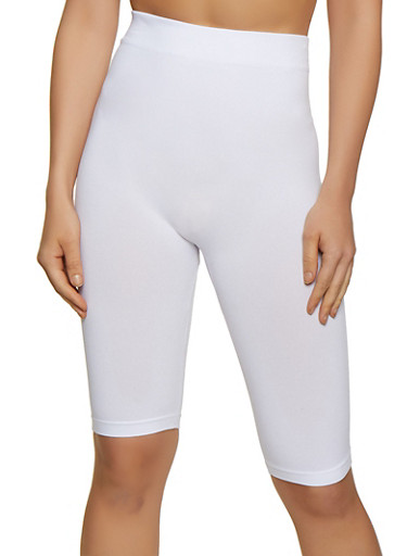 Seamless Bike Shorts | 3068041452563,WHITE,large