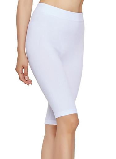 Seamless Bike Shorts | 3068041452564,WHITE,large