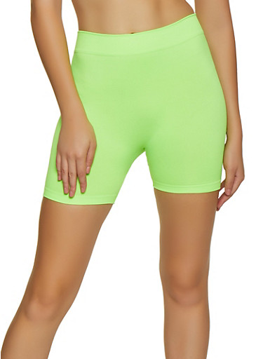 Neon Bike Shorts | 3068041453000,NEON LIME,large