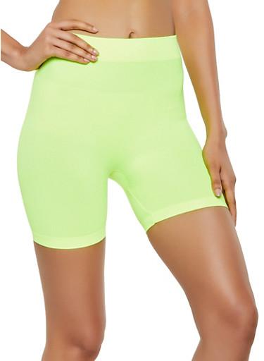 Neon Bike Shorts | 3068041453001,NEON YELLOW,large