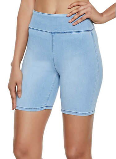 Almost Famous Denim Bermuda Shorts,LIGHT WASH,large
